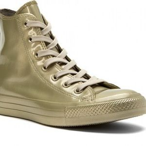 Converse rubber light green high shoes